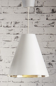 Pendant Light In White and Silver - CNR