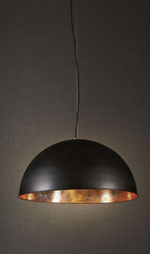 Rounded Black Copper Ceiling Lamp - ALF