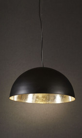 Rounded Black Silver Ceiling Lamp - ALF