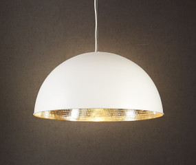 Rounded White Silver Ceiling Lamp - ALF
