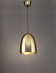Rustic Brass Hanging Lamp - DLC