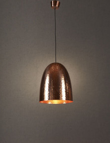 Rustic Copper Hanging Lamp - DLC