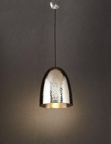 Rustic Silver Hanging Lamp - DLC