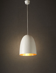Pendant Light - White Copper Hanging DLC