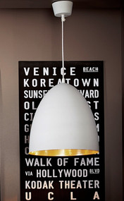 White Silver Ceiling Lamp