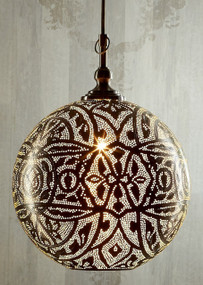 Ball Pendant Light in Silver - Medium - MRC