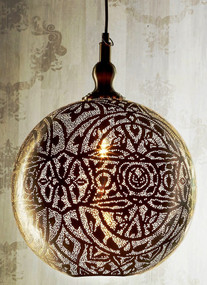 Ball Pendant Light in Silver - Large - MRC