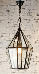 Glass Lantern In Black - BLM