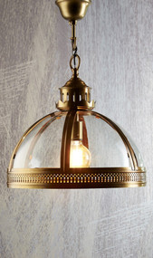 Classic Brass Glass Pendant - WNS