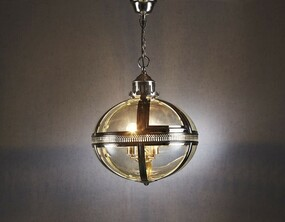 Pendant Light In Shiny Nickel - OXF