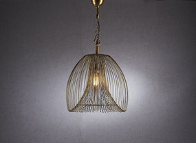 Large Pendant Light In Gold - BKR