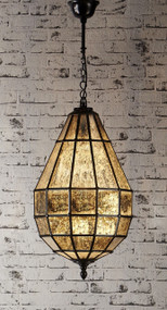 Glass Pendant Light In Black - PRT