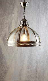 Small Pendant Light in Shiny Nickel - WNS