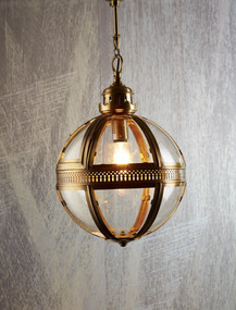 Large Pendant Light Antique Brass - SXN