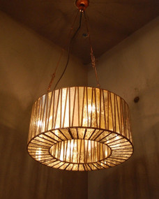 Glass Pendant Light - WHT