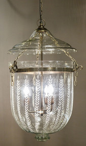 Jar Large Hanging Lamp In Brass with Glass - BLL