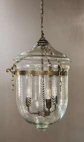Medium Pendant Light Brass with Glass - BLL
