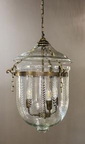 Medium Pendant Light Brass with Glass - BLL
