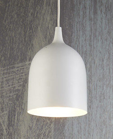 Ceiling Lamp White Silver - LM