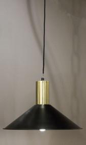 Pendant Light Black with Brass Top - RDF