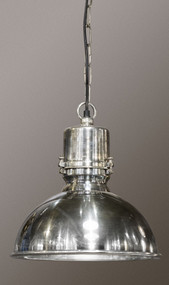Large Pendant Light In Silver - AGS