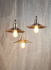 Pendant Light in Antique Silver - 3 Lights MNH