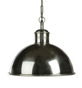 Rounded Hanging Lamp Silver small - BST
