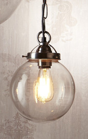 Small Pendant Light Antique Silver - CLS