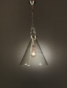 Large Glass Pendant Light - GDS