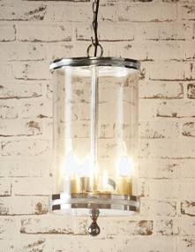 Glass Pendant Light In Nickel - CRN