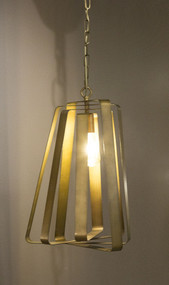 Rustic Hanging Lamp In Brass - MN