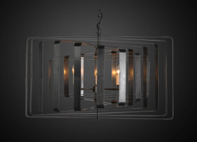 Pendant Light In Black Brass - TMR