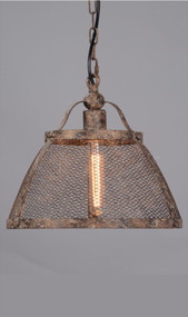 Large Pendant Light In Rustic - LRN