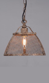 Medium Pendant Light In Rustic - LRN