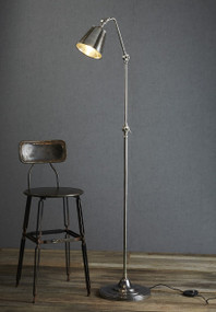 Classic Silver Floor Lamp - NWB