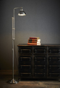 Floor Lamp In Silver - MCH