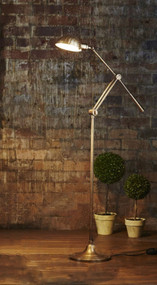 Floor Lamp - Classic Brass Adjustable - CLS