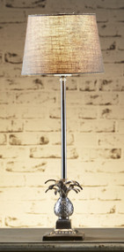 Rustic Table Lamp Base Antique Silver - CRB