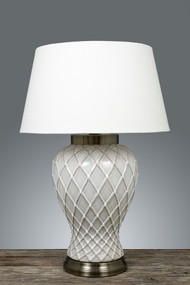 Table Lamp Base - Ceramic with Metal BRK
