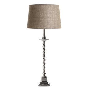 Table Lamp Base - Antique Silver RXB