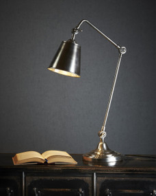 Table Lamp In Silver - CB