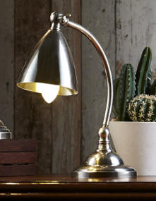 Table Lamp - Antique Silver BRN