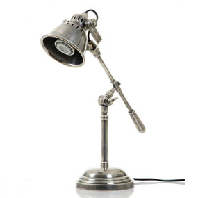 Classic Silver Table Lamp - NWC