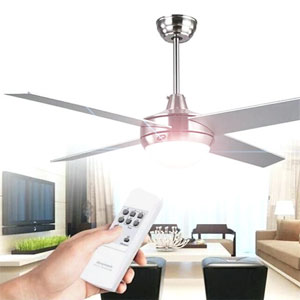 Ceiling Fans with Remote Control & Light