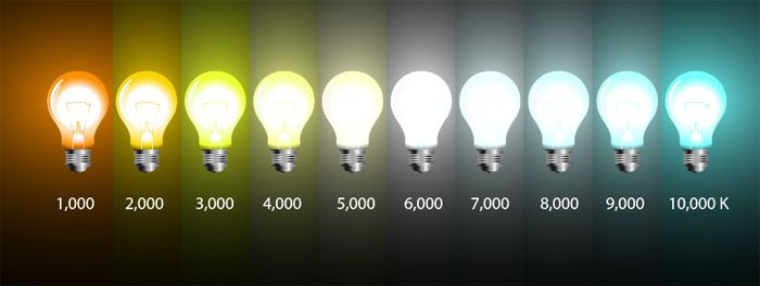 Colour temperature bulbs