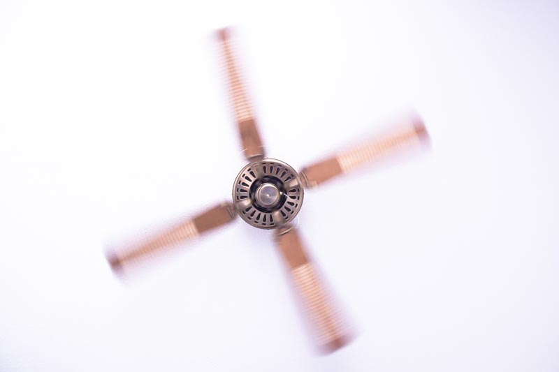 Ceiling fan metal color