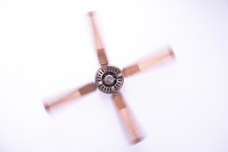 Ceiling fan metal color