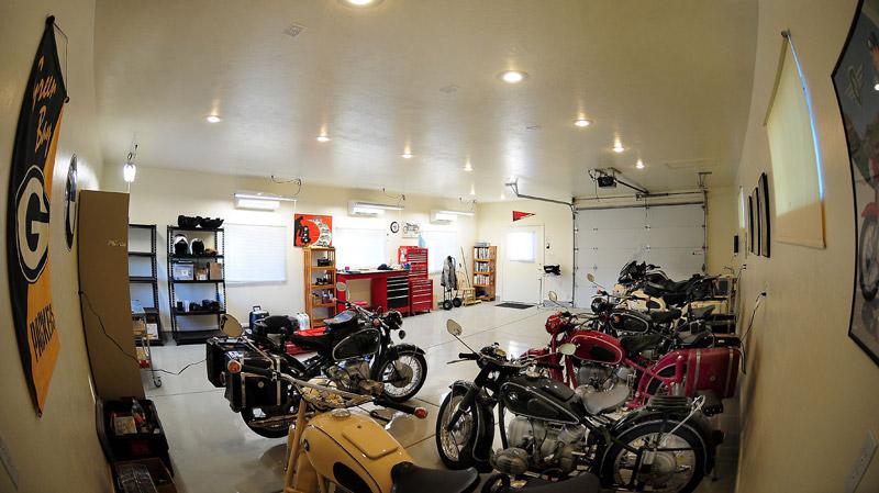 Motorcycles Garage Lighting