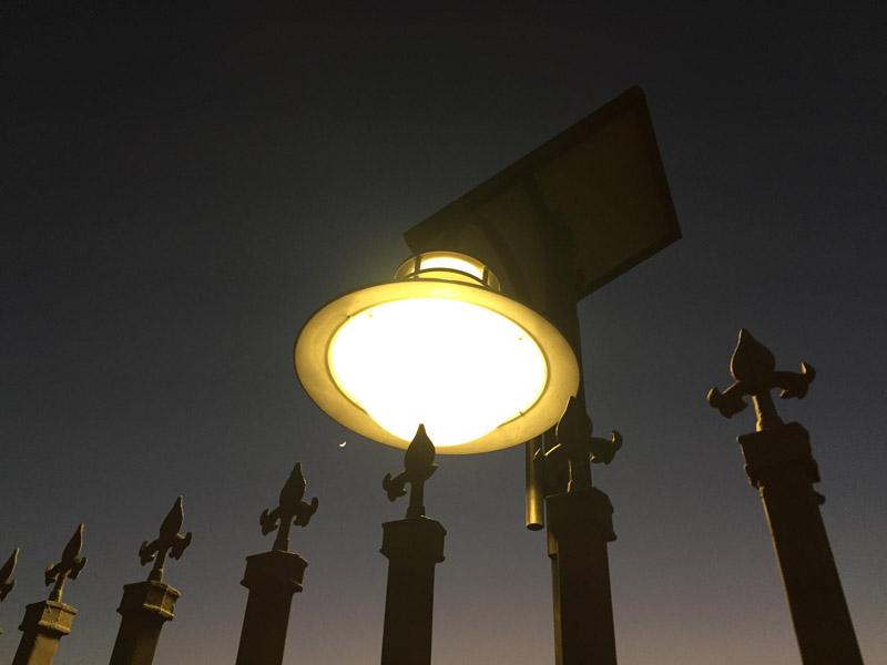 Dark fence light