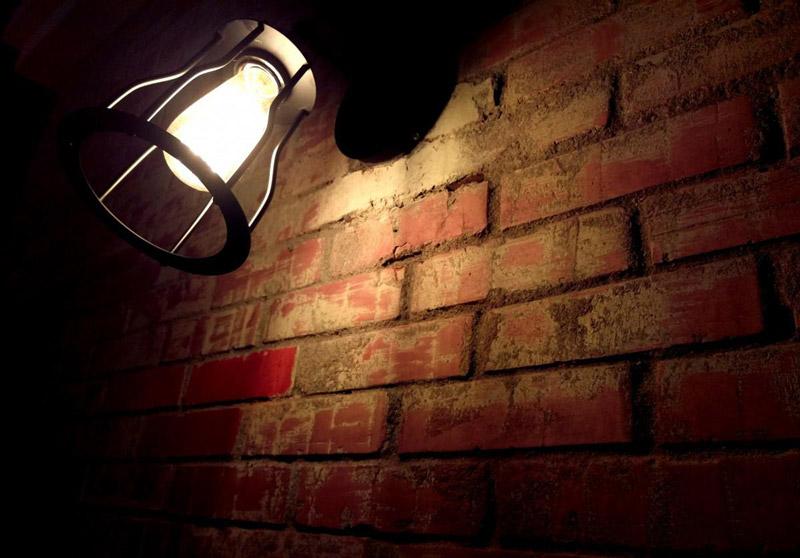 Bulb on the wall